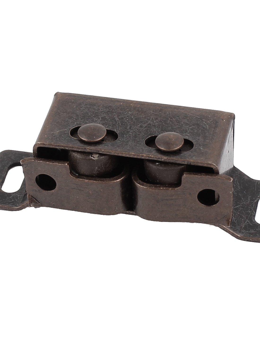 uxcell A15030900ux0026/Cabinet Armoire Porte Balle Double Rouleau Catch Loquet Copper Tone 47/mm