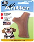 Pet Qwerks Nylon Antler Chicken Flavor - Durable Dog Bones for Aggressive Chewers, Tough Nearly Indestructible Chew Proof Toys   Made in USA, FDA Compliant Nylon - For Medium & Small Dogs (A5)