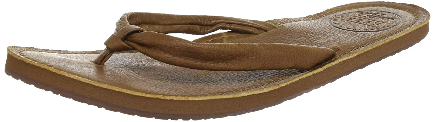 3e2889045d5f Reef Womens CREAMY LEATHER TOBACCO Flip-Flops multi-coloured ...