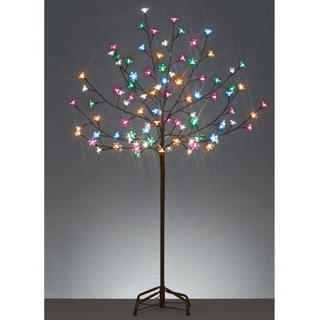 LED Cherry Blossom Tree 120cm Multi Coloured by Premier