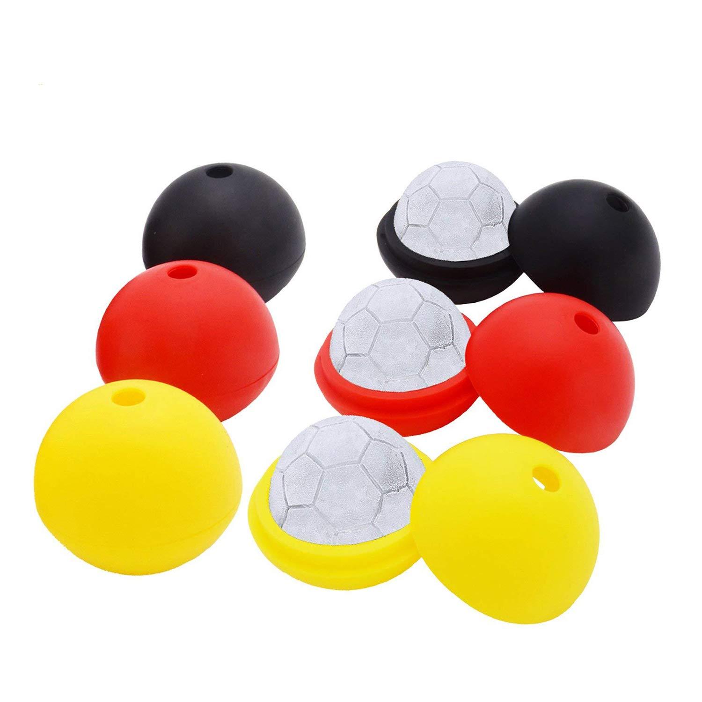 Moldes de silicona para balón de fútbol (6 piezas) Black Red ...
