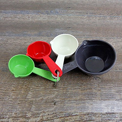 Natural Home Molded Bamboo Ribbed Measuring Cups