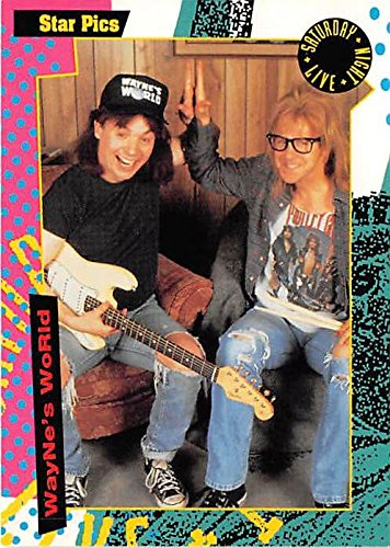 (Waynes World trading card Saturday Night Live 1992 Star Pics #28 Mike Myers Garth Dana Carvey Sphincter )