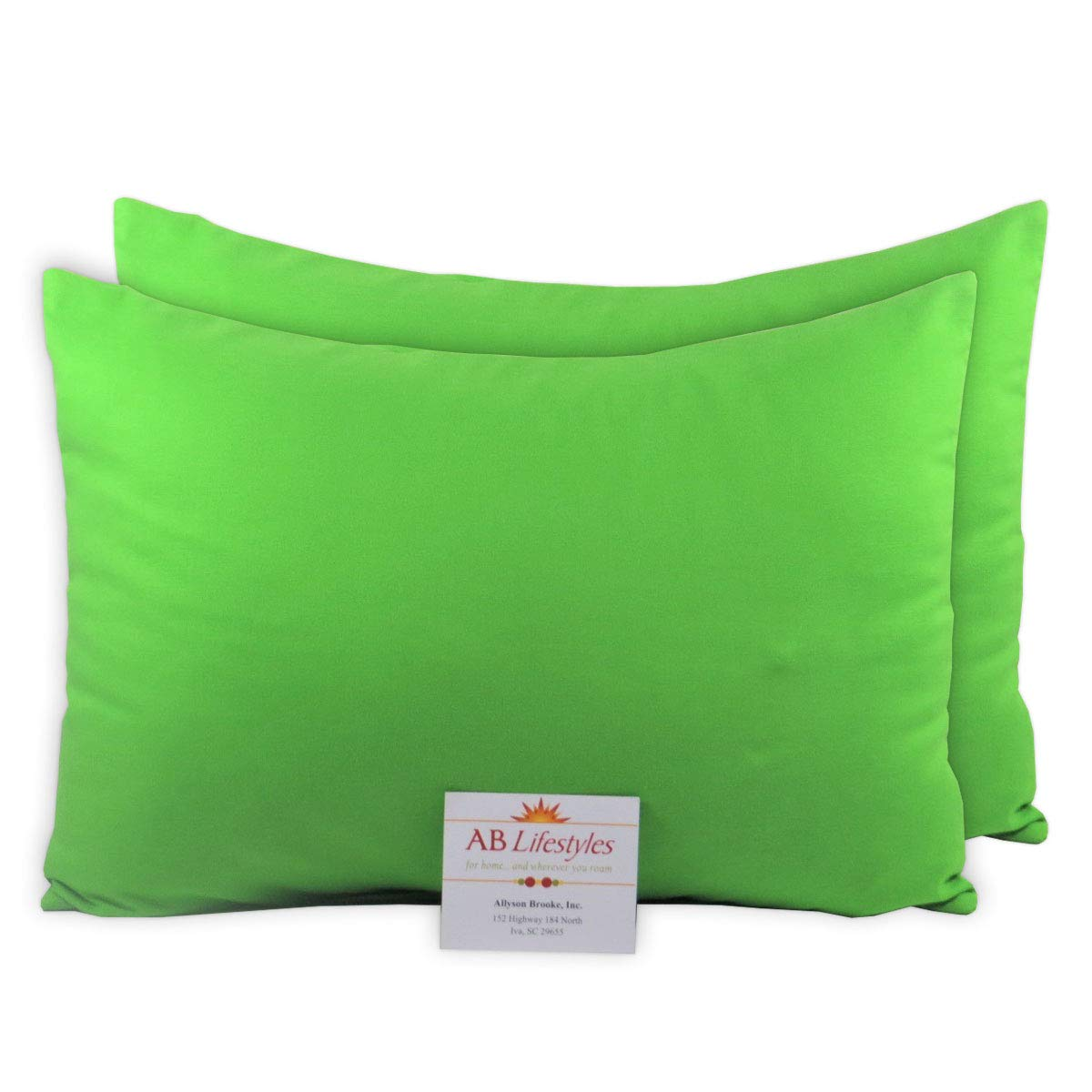 Toddler Size Pillowcases Bright Green AB Lifestyles 2 Pack 13x18 100/% Cotton Travel Pillowcases Envelope Closure Fits MyPillow Travel Size