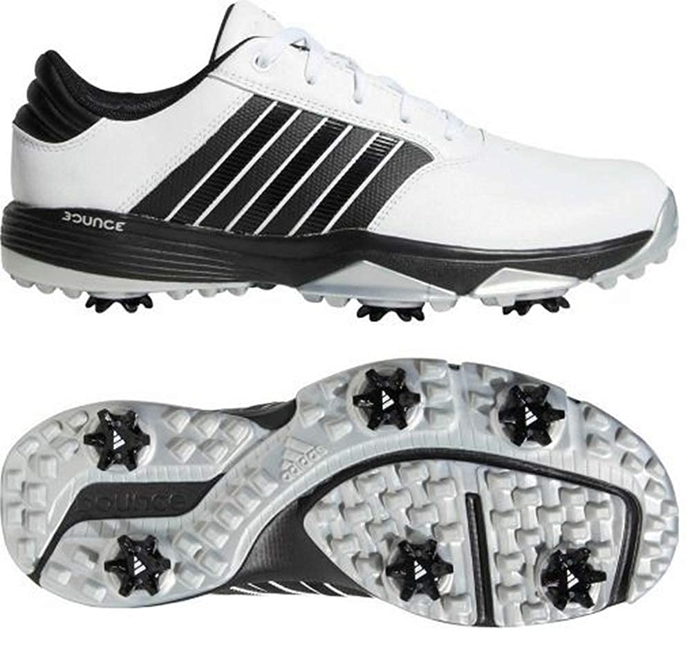 a3382f3b3 Amazon.com  adidas Men s 360 Bounce Golf Shoes White Black Matte Silver  Size 8 M  Clothing