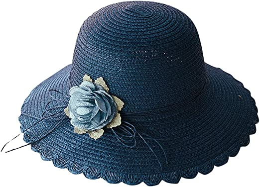 Women Ladies Summer Wide Brim Straw Hat Floppy Derby Beach Sun Foldable Cap Lot
