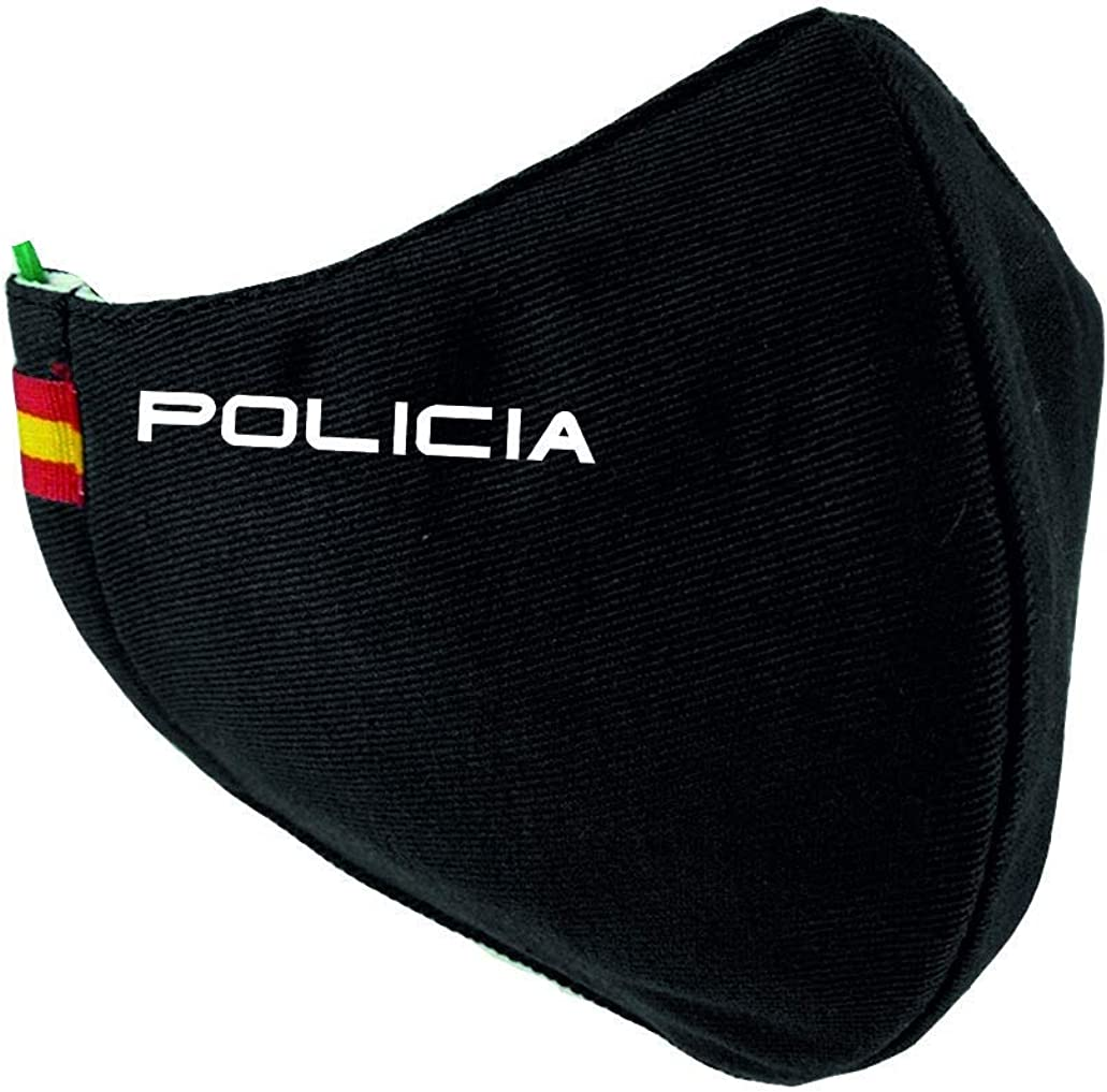 Mascarilla Policia con Bandera España: Amazon.es: Ropa y accesorios