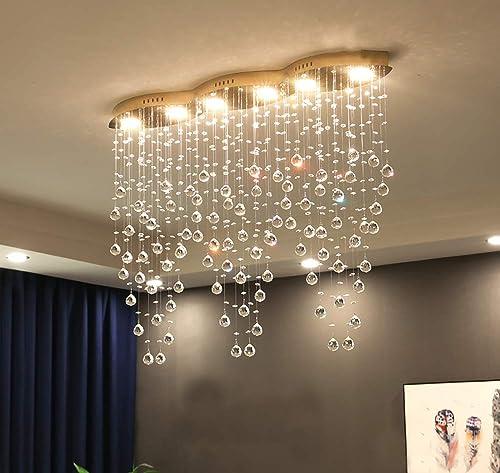 APBEAM Modern Crystal Raindrop Chandelier