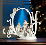 Collections Etc Lighted Joy Nativity Christmas