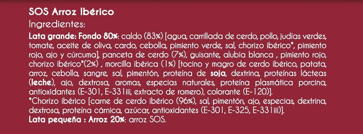Sos Arroz Iberico, 955g: Amazon.es: Alimentación y bebidas