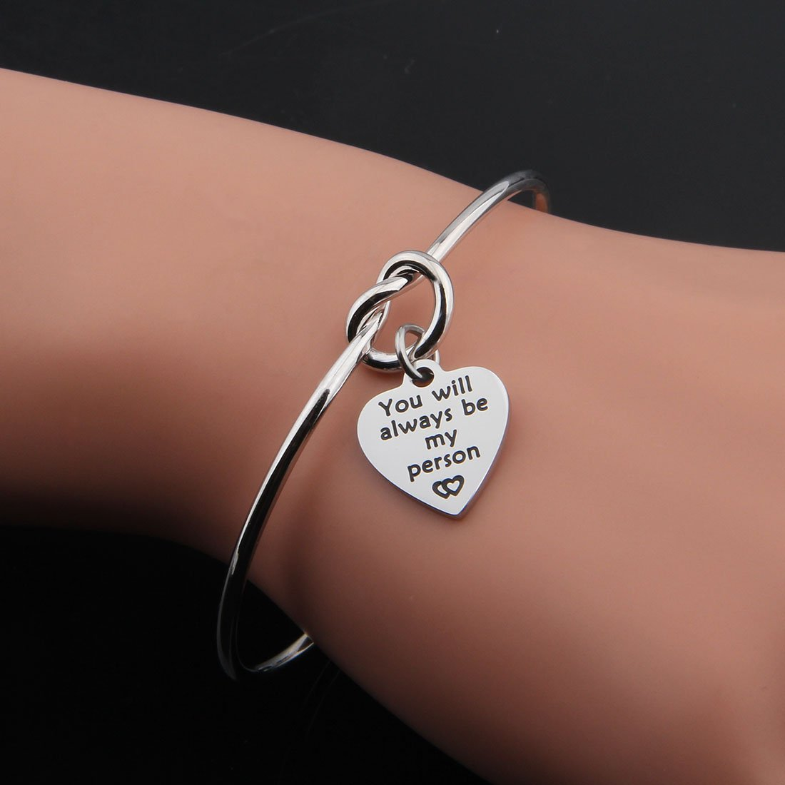 KUIYAI You will always be My Person Bracelet Knot Cuff Bracelet for Couples Best Friends Gift (You will always be my person cuff) by KUIYAI (Image #4)