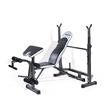 TOMSHOO Adjustable Multi Station Weight Bench Press Incline Flat Decline  Sit Up Bench Weight AB