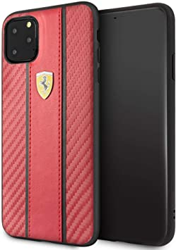 Ferrari Carbon Pu Case For Iphone 11 Pro Max On Track Scuderia Carbon Band Hard Case Red Drop Protection Shock Absorption Case Officially Licensed Amazon Ca Electronics