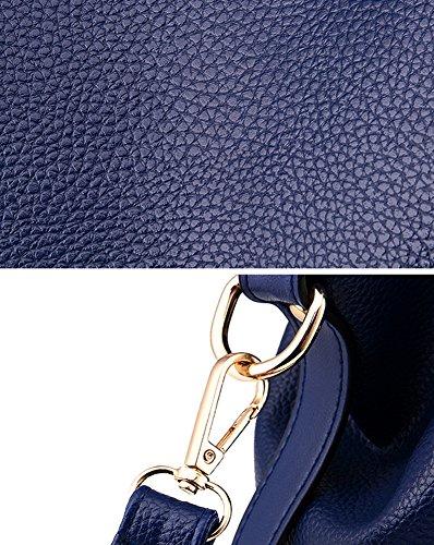 LATH tout Bleu Souple à Sac Sac Sac à Bandoulière Femme Cuir main Casual PU Noir PIN Messenger en Fourre grRqZg