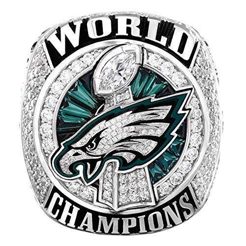 - Zoga Philadelphia Eagles Ring, Super Bowl LII World Foles and Wentz Championship Replica (11, Foles)