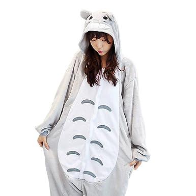 2d208d08983 TOTORO Women's Adult Pajamas Ladies Unisex Fleece Animal Onesies ...