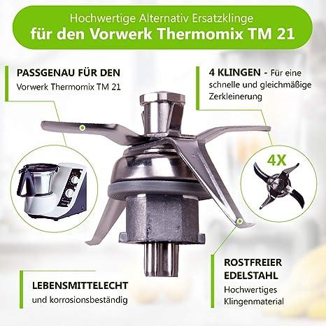 Messer Mixmesser Messerkreuz Thermomix Vorwerk TM 21 Küchenmaschine mit Dichtung