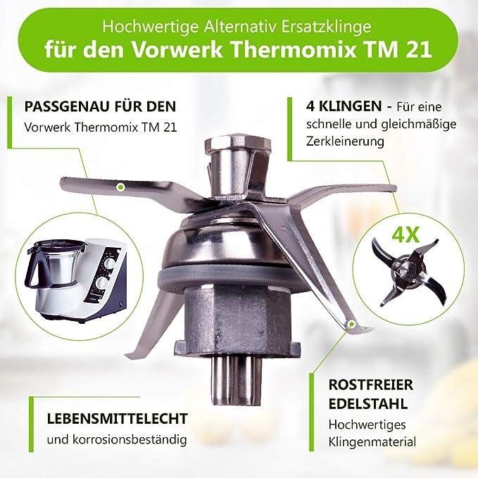 Messer Mixmesser Messerkreuz TM21 für Thermomix Vorwerk TM 21 Küchenmaschine