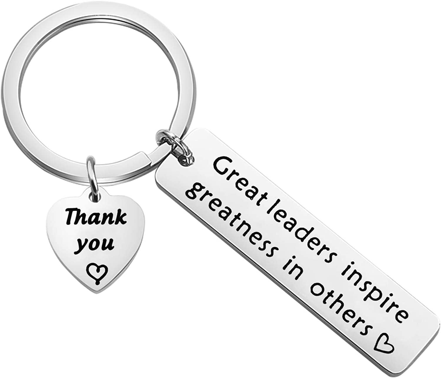 Great Leader Inspire Greatness in Other Keychain Gifts Boss Keychain for Women Leader Boss for Boss Day Gift Idea Birthday Christmas Retirement Gift Appreciation Gift Boss Day Gift for Him Her