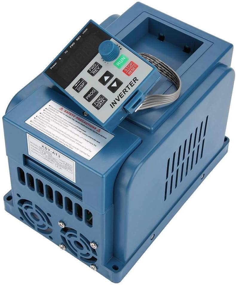 Maxmartt Variable Frequency Drive AC 380V 1.5kW 4A Variable Frequency Drive VFD 3 Phase Speed Controller Inverter Motor 1PC