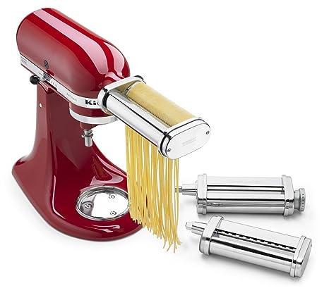 amazon com kitchenaid ksmpra 3 piece pasta roller cutter rh amazon com