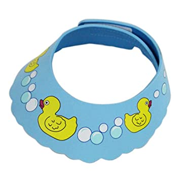 ac9dcf8d81a V-youth Baby s EVA Swimming Duck Bath Hat Cap   Shampoo Shower Bathing  Protect   Wash Hair Shield