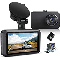 Dash Cam Front and Rear with 32GB Card SSONTONG Dashboard Camera Dual FHD 1080P DVR Car Driving Recorder 3 Inches IPS…