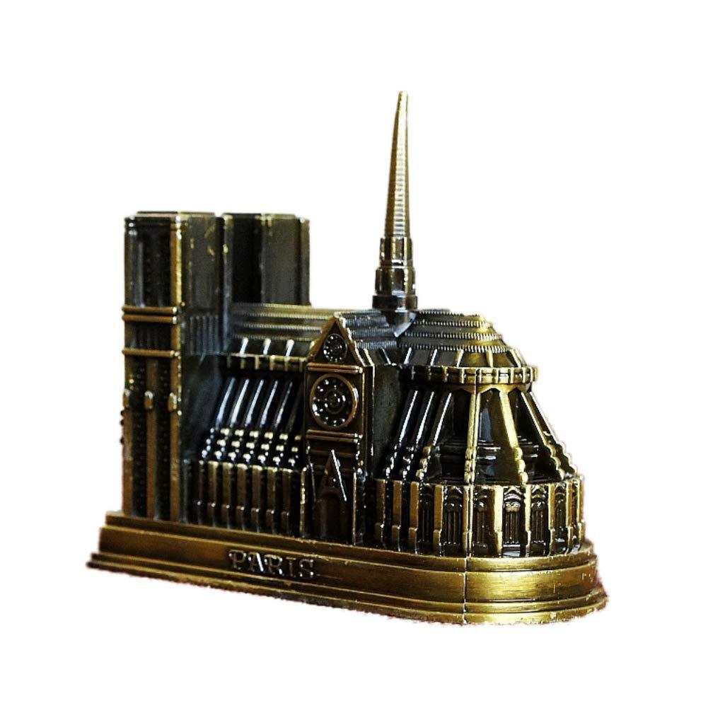 Weisi M/étal 3D Notre Dame De Paris Figurines Statue Ornement Souvenirs De France