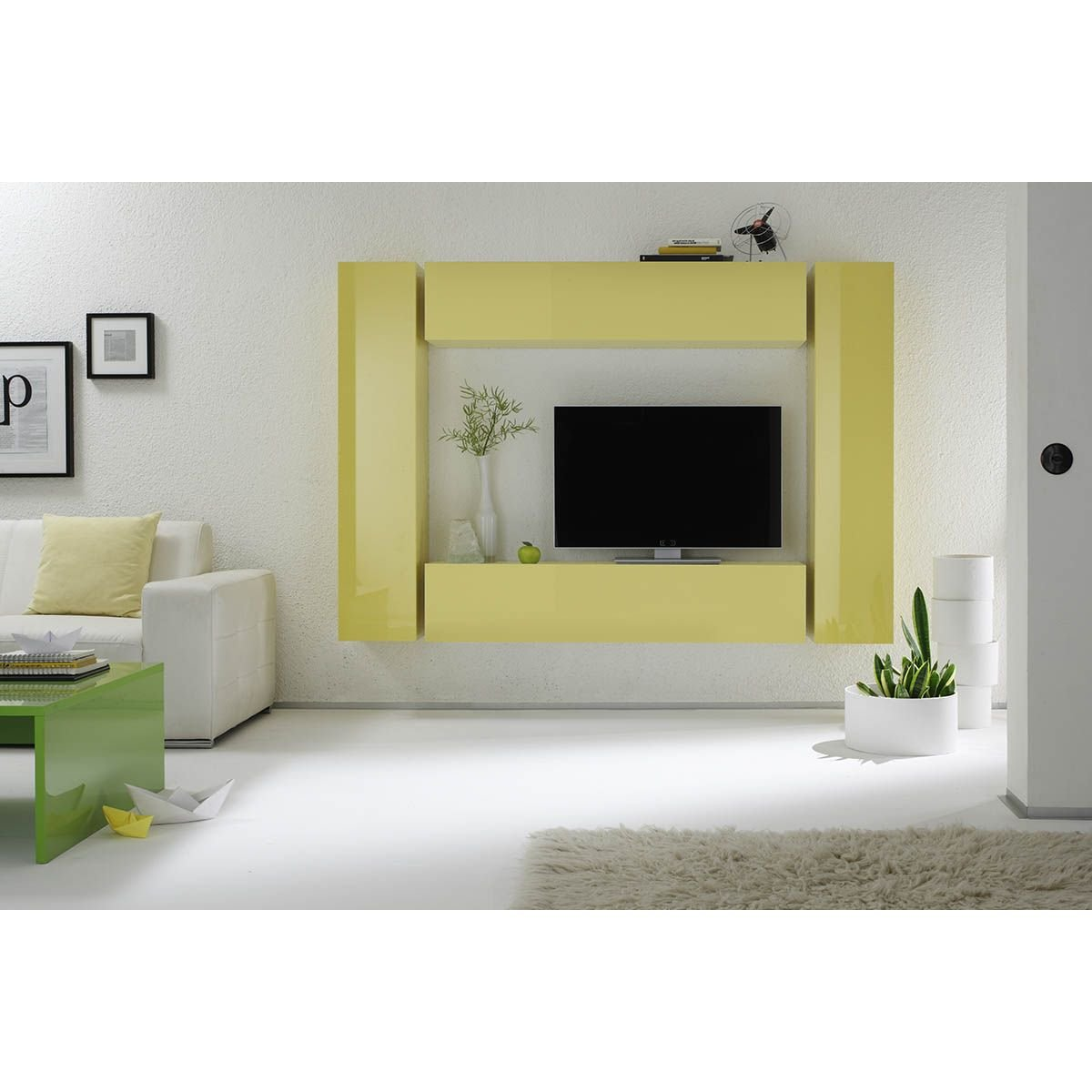 Miliboo - Elemento de Pared TV Colored Horizontal o Vertical ...