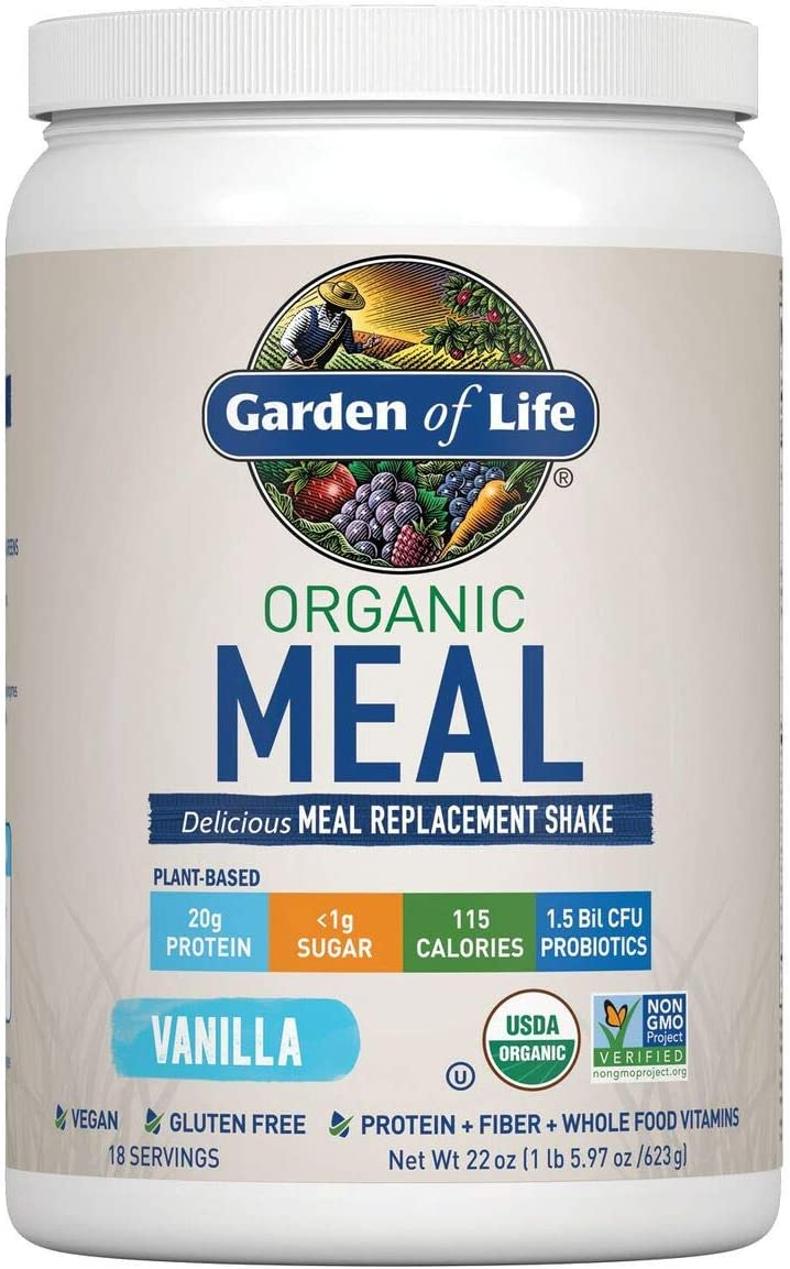 Garden of Life Organic Meal Replacement Shake Mix Vanilla 22oz, pack of 1