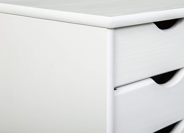 Inter Link Nils Cajonera ,35 x 40 x 65 cm, Blanco: Amazon.es: Hogar