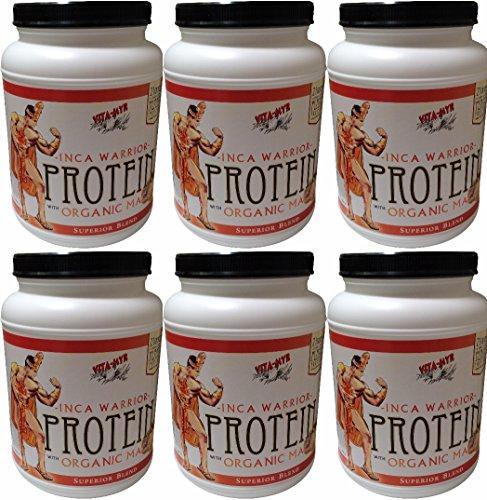 6 Pack (6 Month Supply) Vanilla Inca Warrior Protein W/organic Maca 2 Lb. by VITA-MYR