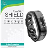 [6-PACK] Garmin Vivosmart HR Screen Protector Full Coverage [Military-Grade] RinoGear Premium HD Invisible Clear Shield Anti-Bubble