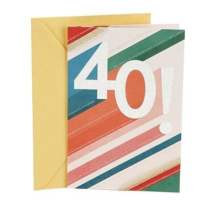 Amazon Hallmark 40th Birthday Greeting Card Multi Colored