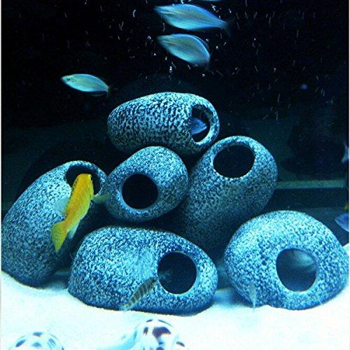 New Aquarium Cichlid Stones Ceramic Rock Cave Ornament Cichlid Stones Fish Tank Cichlid Stones Decorati by Mkampong