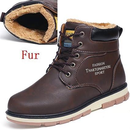 NiuBuLaio Warm Men's Winter Pu Leather