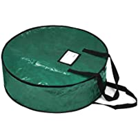 """ProPik Wreath Storage Bag Polyester Tear Resistant Fabric for Holiday Easy Storage Featuring Heavy Handel's and Transparent Card Slot 24"""" X 24"""" X 8"""""""