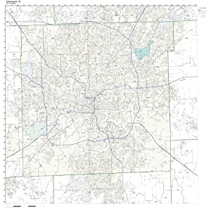 Amazoncom ZIP Code Wall Map of Indianapolis IN ZIP Code Map