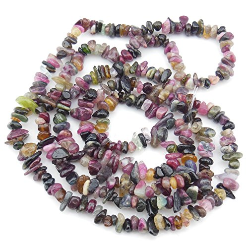 5-8mm Tourmaline Chips Chip Beads Loose Gemstone Beads for Jewelry Making Strand 35 Inch