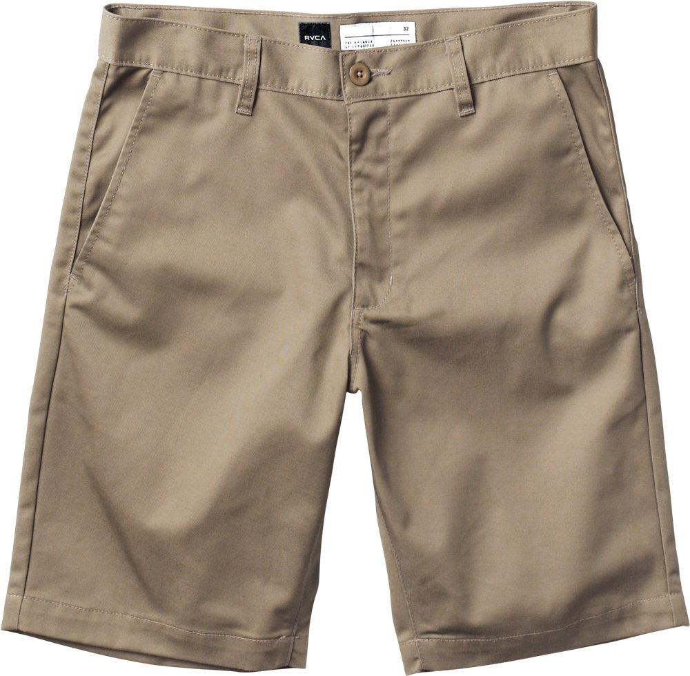 RVCA Men's Week-End Short, Dark Khaki, 34