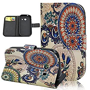 Seedan Samsung Galaxy Ace Style Wallet Case (SM-G310 S765C) - Colorful Decorative Pattern Painting Flip Leather Protective Cover Pouch with Stand Card Slots