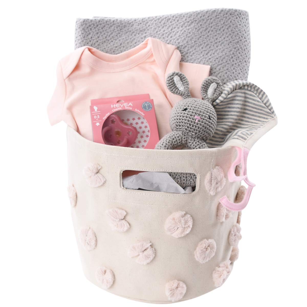 Baby Girl Gift Basket - Pink & Grey