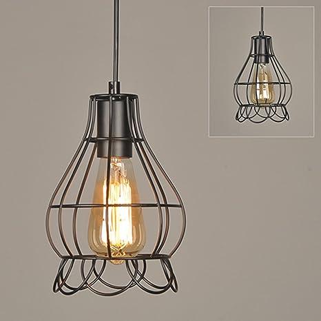 Metal de estilo retro de la industria de lámpara colgante luz Fixture de hierro estilo vintage