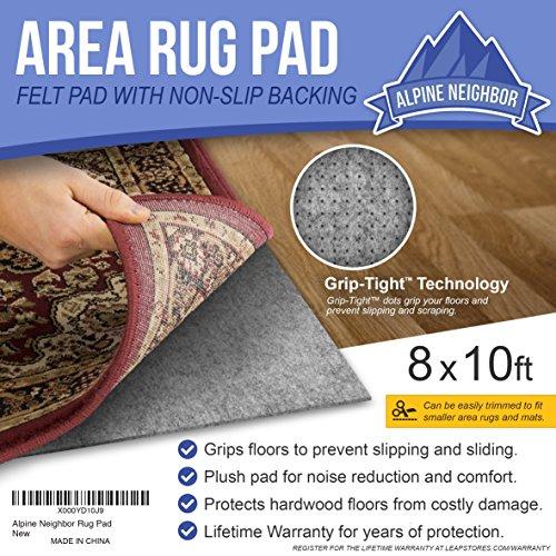 Alpine Neighbor 8-Feet-by-10-Feet Rug Pad with Grip Tight ...