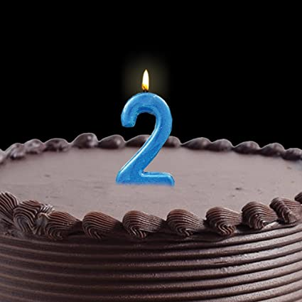 Buy Party Propz Happy Birthday Candle No 2 For Boys Blue Online At Low Prices In India