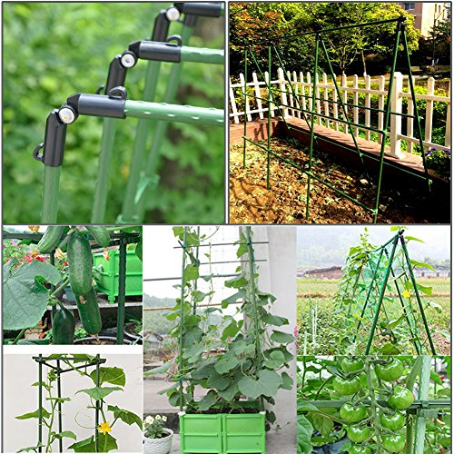 Yidie Sturdy Metal Garden Stakes 4 Ft Plastic Coated Plant