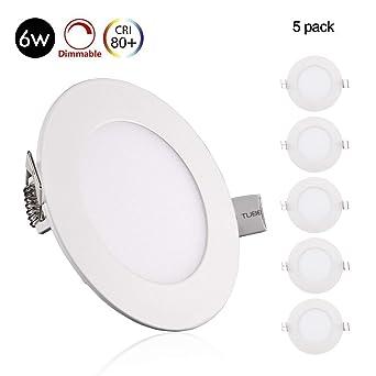 6er Set LED Einbau Strahler Decken Panel Leuchten weiß Spot Strahler Dimmer rund