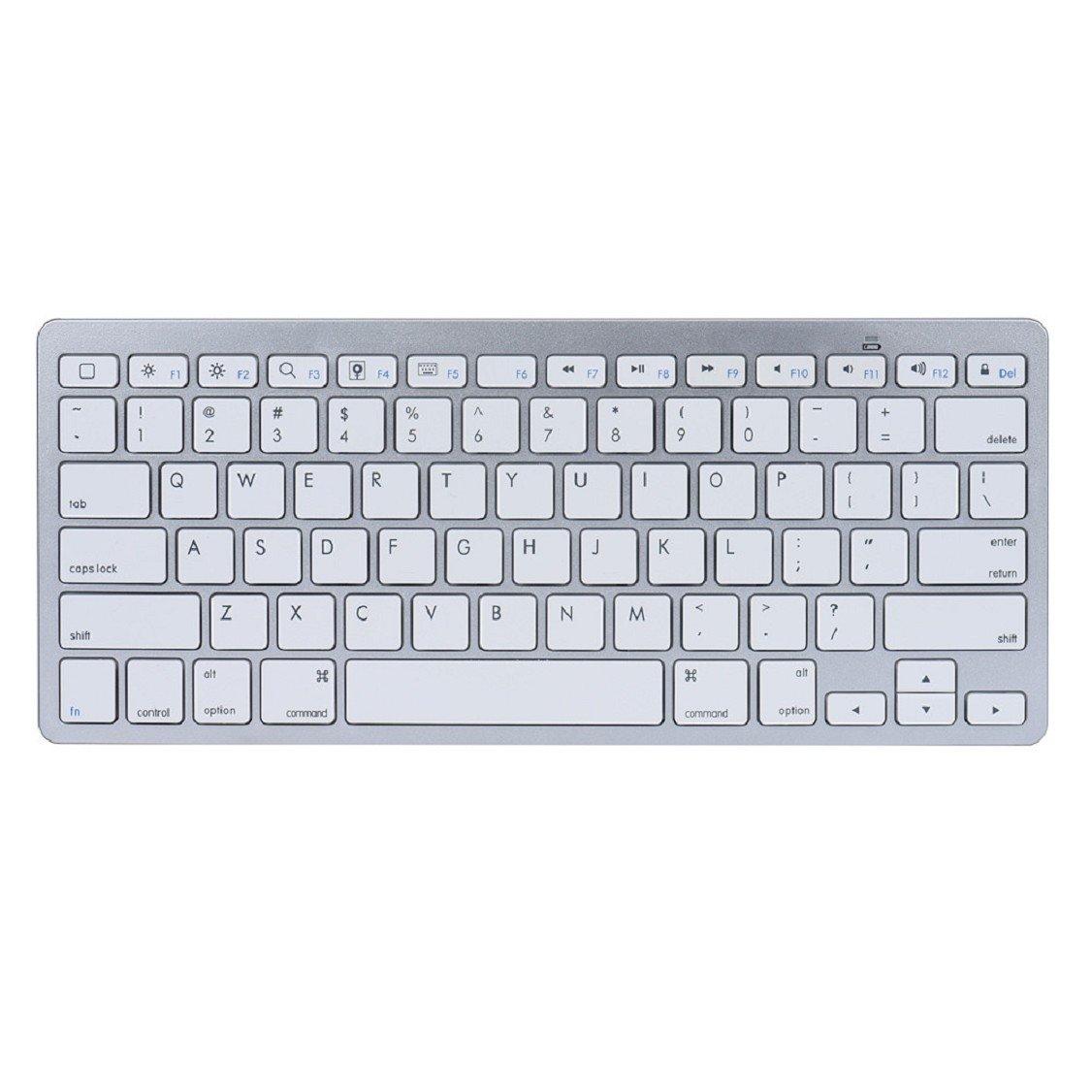 Egmy Hot! 2016 Slim Mini Bluetooth Wireless Keyboard for iPad Pro 9.7 /12.9 inch White by Egmy (Image #2)