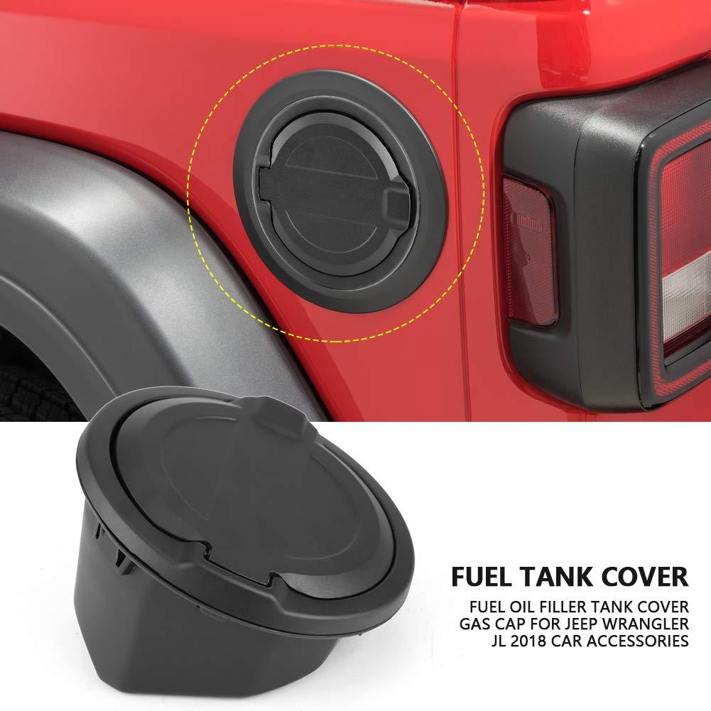 Gas Tank Cover Cap Oil Filler Fuel Cap for Jeep Wrangler JL 2018 Car Accessories