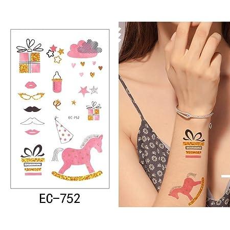 5 Piezas Tatuaje Temporal Pegatina Rosa Falso Tatuaje Globo ...